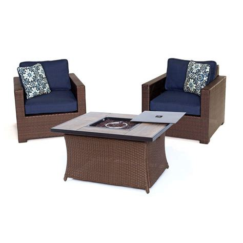 hanover metropolitan 3 all weather wicker patio chat