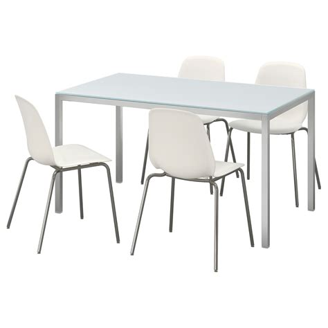 chaise ikea blanche torsby leifarne table and 4 chairs glass white white 135