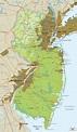 Physical Map of New Jersey - Ezilon Maps