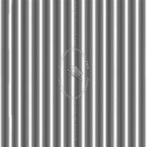 Aluminium corrugated metal texture seamless 09969