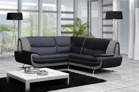 canapé d angle gris et noir canapé moderne simili cuir réversible gris noir chocolat canapés d 39 angle canapés et