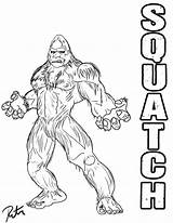 Coloring Pages Yeti Abominable Snowman Printable Getcolorings sketch template