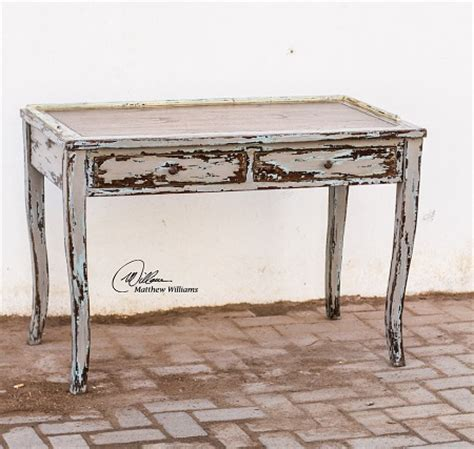 distressed wood computer desk rustic office design for a homier home office