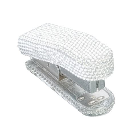 staples office desk supplies medium crystals rhinestone portable clear stapler staples