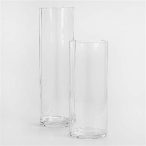 cylinder glass vases clear glass cylinder vases world market
