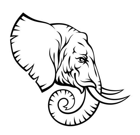 elephant head tattoo designs