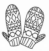 Coloring Mittens Pages Mitten Scarf Gloves Brother Pattern Drawing Winter Getcolorings Printable Clipartmag Colouring Luna sketch template