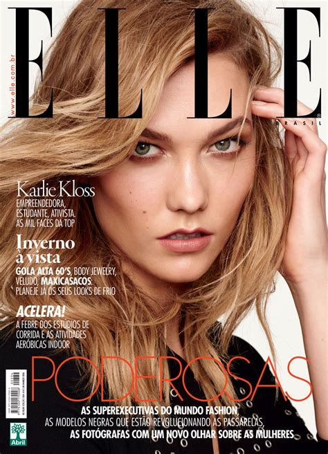 Smile Karlie Kloss Elle Brazil March Nicole
