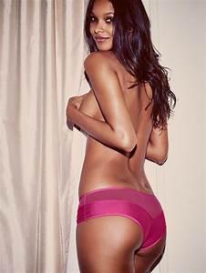 Lais Ribeiro smoulders for Victoria's Secret Lingerie Lookbook