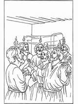 Coloring Pentecost Pinksteren Pfingsten Kleurplaten Bible Peter Cornelius Pages Bilder Bibel Malvorlagen Sheets Sunday Fire Funnycoloring Ausmalbilder Popular Bild Template sketch template