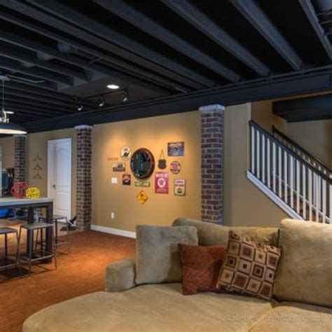 exposed basement ceiling ideas 36 practical and stylish basement ceiling d 233 cor ideas