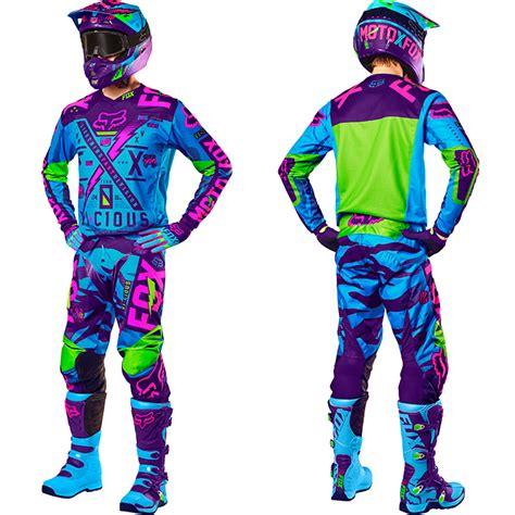 purple motocross fox racing new 2016 mx le v2 vicious dirt bike blue purple