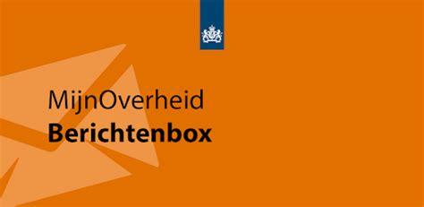 berichtenbox mijn overheid nl inloggen de inloggen