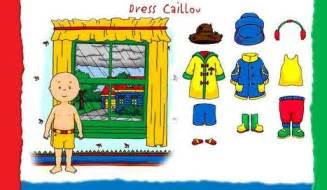 PBSKids Caillou Dress Up Game