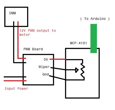 Arduino Digital Potentiometer Pwm Control Input
