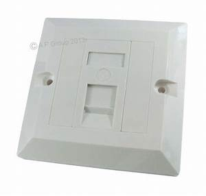 Network Wall Socket For Single Rj45 Cable Faceplate For