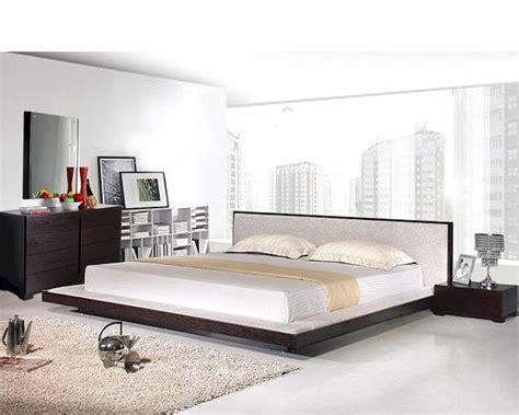 Modern Platform Bedroom Set In Wenge Finish Made In Italy