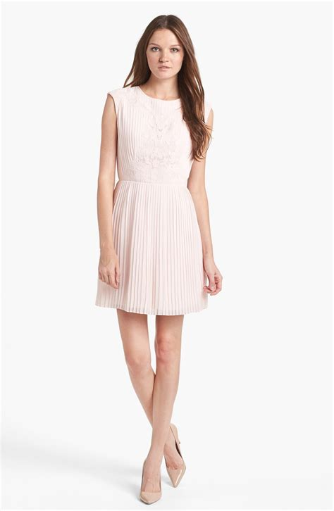 light pink lace dress ted baker pleated lace a line dress in pink light pink