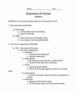 story outline template 6 free word pdf document With novel outline templates