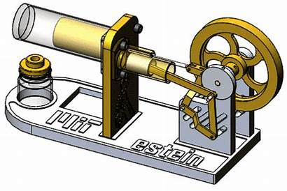 Stirling Engine Cylinder Mechanical Torque Flywheel Heat