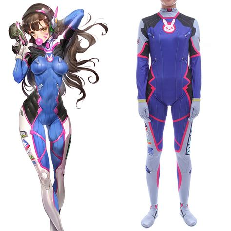 Custom Made Overwatch Dva Cosplay Costume For Halloween Party
