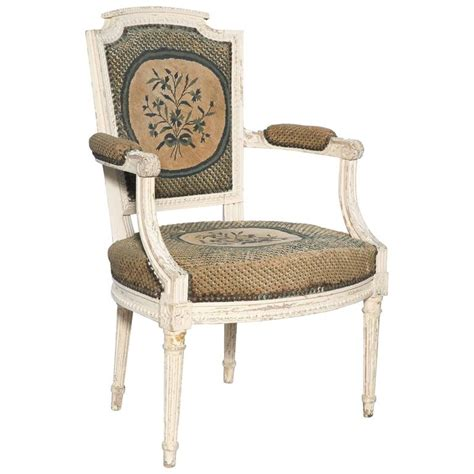 late 19th century louis xvi style painted fauteuil for sale at 1stdibs