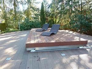 Couvrir Terrasse : le rolling deck terrasse coulissante pour couvrir votre spa ou votre piscine facilement ~ Dode.kayakingforconservation.com Idées de Décoration