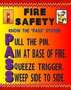 Make a Poster About the PASS System | Fire Safety Poster Ideas