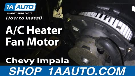 replace blower motor   chevy impala youtube