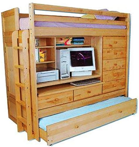 bunk beds with built in desk and drawers bunk bed paper patterns loft all in1 w trundle desk chest