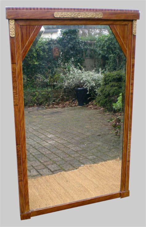 beau et grand miroir ancien 233 poque 1930 montage sur bois