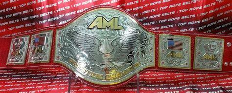 aml americas   championship belt top rope belts