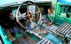 Ratrod Interior Using A Hand Drill For A Shifter  A Four Point Wheel Wrench And Industrial