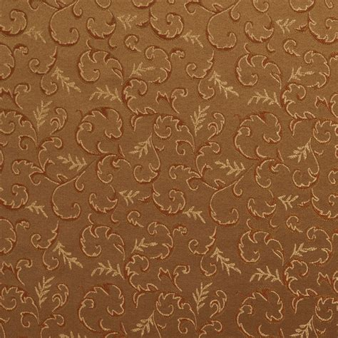 green brown gold abstract floral damask upholstery drapery