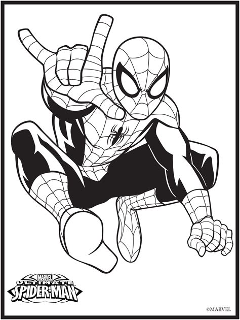 marvel colouring page