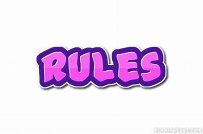 Rules Logos Font Text Flamingtext