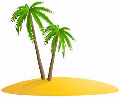 Island Palm Clip Transparent Clipart Trees Summer