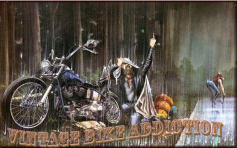 vintage bike addiction david mann rain sucks