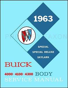 1963 Buick Body Manual Original