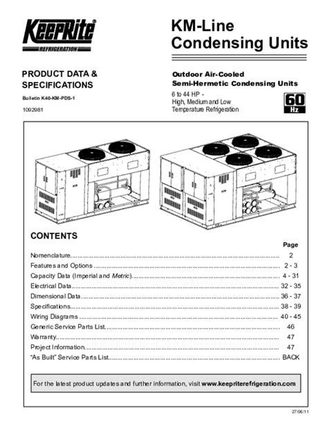 Keeprite Refrigeration Wiring Diagram by Pdf Keeprite Km Product Data Sergio George Sewer