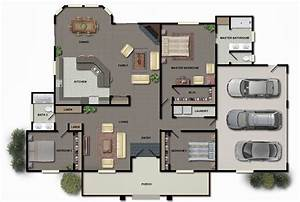 3d, Modern, House, Plans, Collection