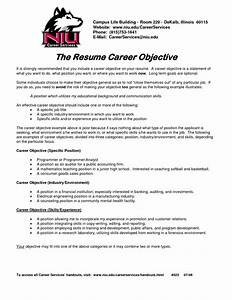 career objective on resume template resume builder With free resume objectives