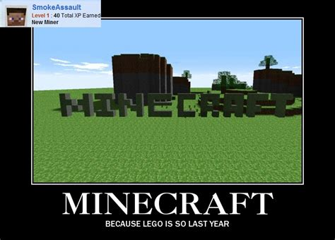 Funny Minecraft Memes - minecraft is just a step up from lego minecraft blog