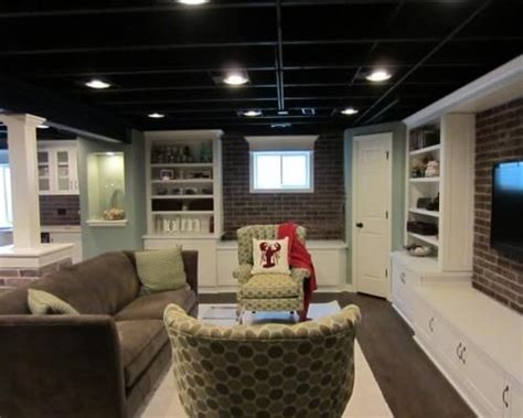 unfinished basement ceiling paint ideas unfinished basement lighting ideas 2 black