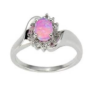 synthetic engagement rings 925 sterling silver synthetic pink opal 39 s engagement wedding ring ebay