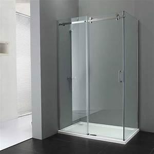 porte coulissante lapeyre verre systeme coulissant pour With porte de douche coulissante avec globe applique salle de bain