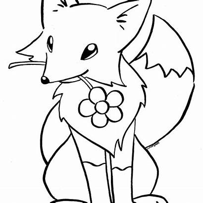 Fox Coloring Pages Drawing Cool Clipartmag Printable