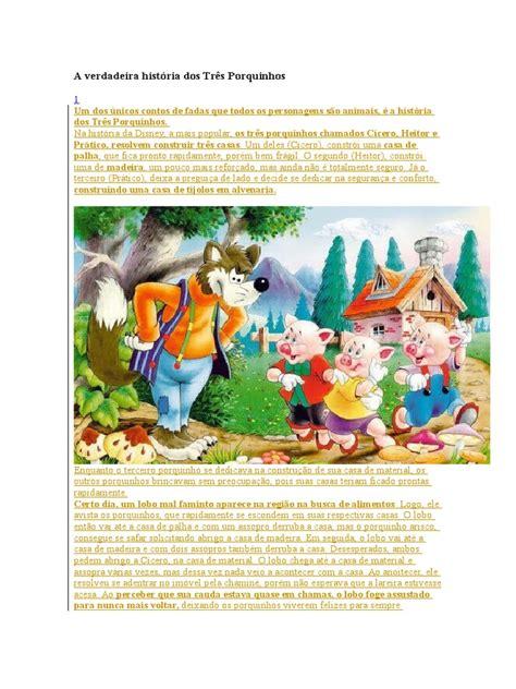A Verdadeira História Dos Três Porquinhos | Lazer | Ficção ...