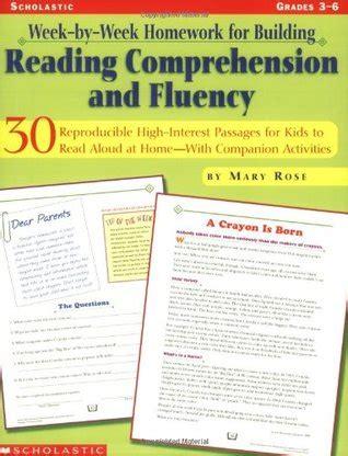 week  week homework  building reading comprehension