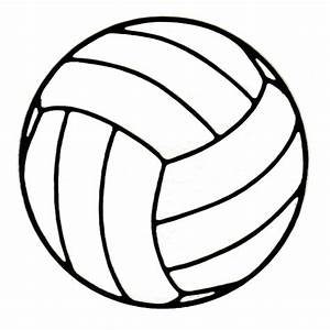 Black And White Volleyball - Cliparts.co